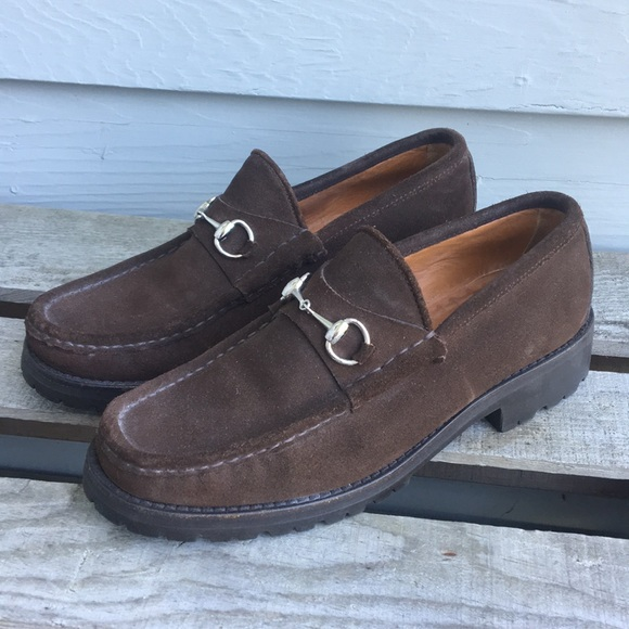 d7277045b Gucci Shoes | Espresso Brown Suede Leather Horsebit Loafer | Poshmark